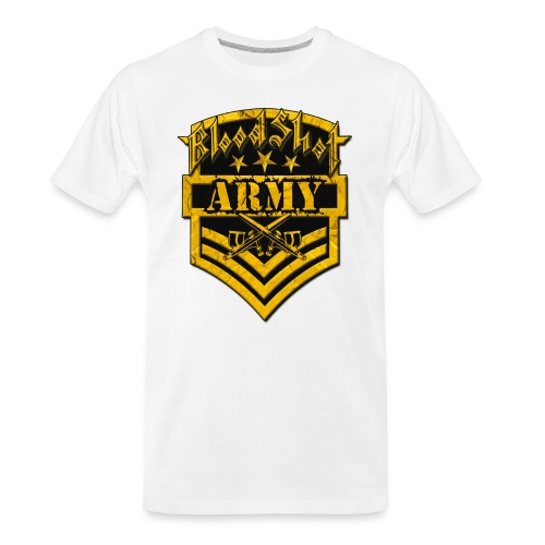 BloodShot ARMYLogo Gold /Black - Men's Premium Organic T-Shirt