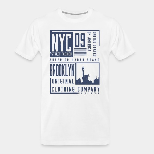 brooklyn new york - Men's Premium Organic T-Shirt
