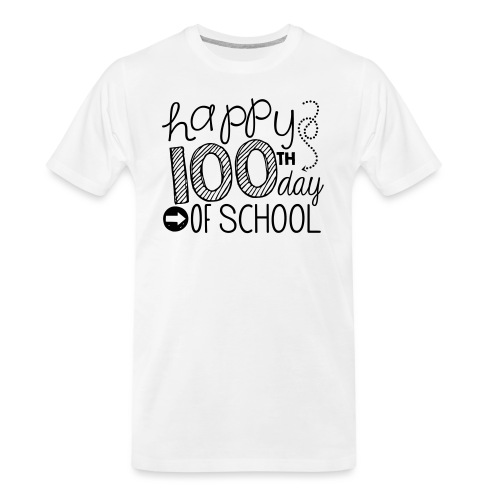 Happy 100th Day of School Arrows Teacher T-shirt - Men's Premium Organic T-Shirt