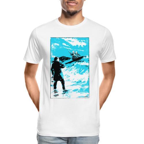 surfer skeletons - Men's Premium Organic T-Shirt