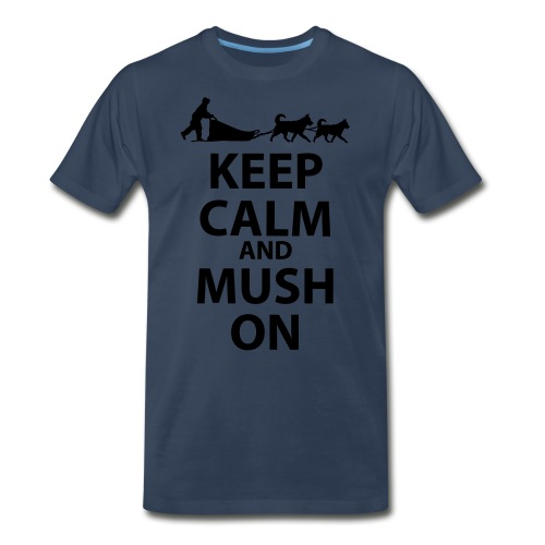 Keep Calm & MUSH On - Men's Premium Organic T-Shirt