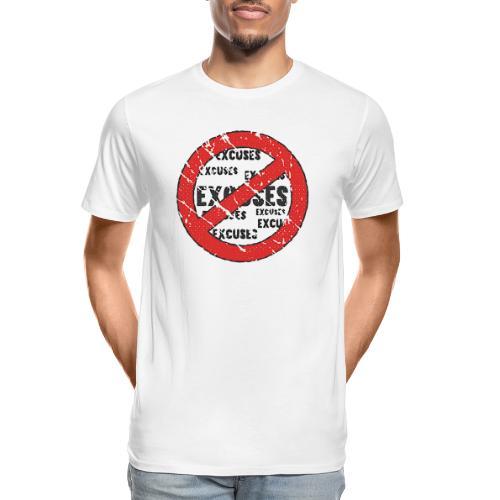 No Excuses | Vintage Style - Men's Premium Organic T-Shirt