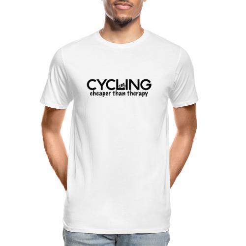 Cycling Cheaper Therapy - Men's Premium Organic T-Shirt