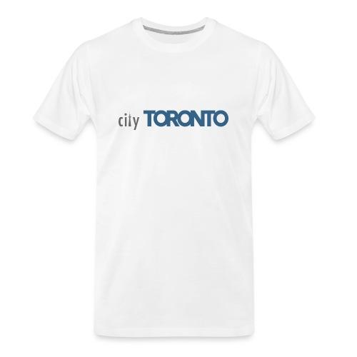 cityTorontoLogoNEW.png - Men's Premium Organic T-Shirt