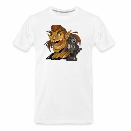 Fighter and the Demon - Men's Premium Organic T-Shirt