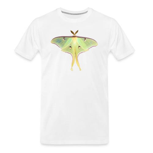 GREEN LUNA MOTH - Men's Premium Organic T-Shirt