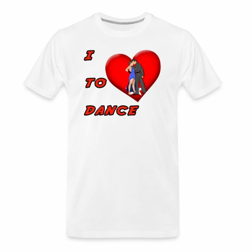 I Heart Dance - Men's Premium Organic T-Shirt