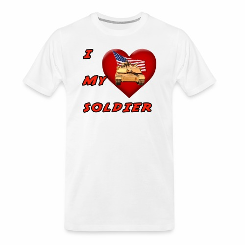 I Heart my Soldier - Men's Premium Organic T-Shirt