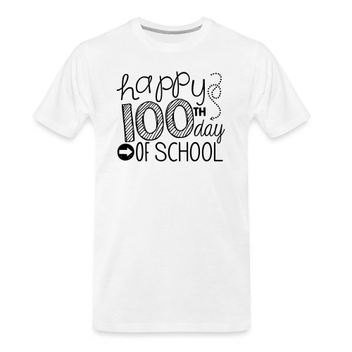 Happy 100th Day of School Arrows Teacher T-shirt - Men's Premium Organic T-Shirt