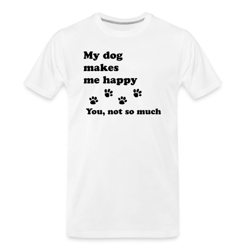 love dog 2 - Men's Premium Organic T-Shirt
