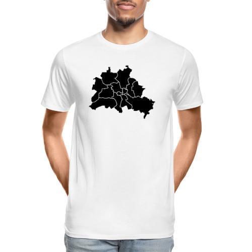 Berlin map, districts - Men's Premium Organic T-Shirt