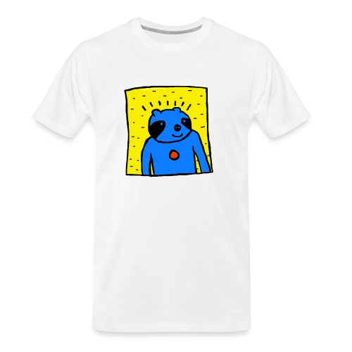 Sloth Portrait Hoodie - Men's Premium Organic T-Shirt