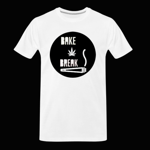 Bake Break Logo Cutout - Men's Premium Organic T-Shirt