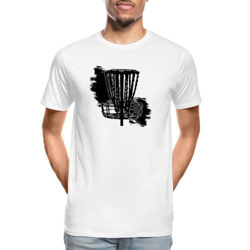 Disc Golf Basket Paint Black Print - Men's Premium Organic T-Shirt