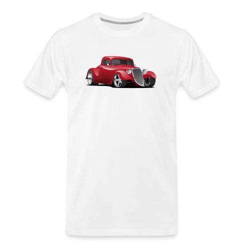 Custom American Red Hot Rod Car - Men's Premium Organic T-Shirt