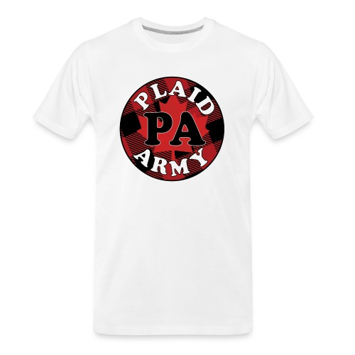 plaid army round - Men's Premium Organic T-Shirt