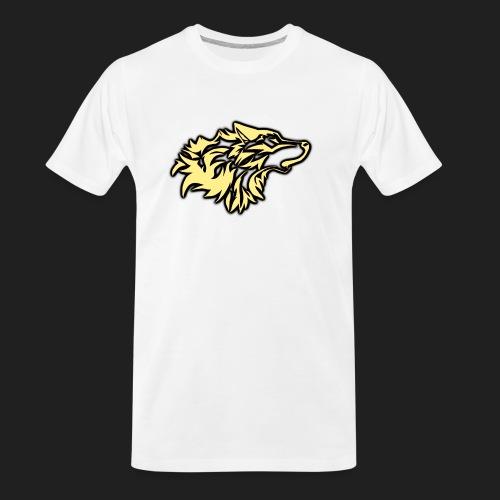 wolfepacklogobeige png - Men's Premium Organic T-Shirt