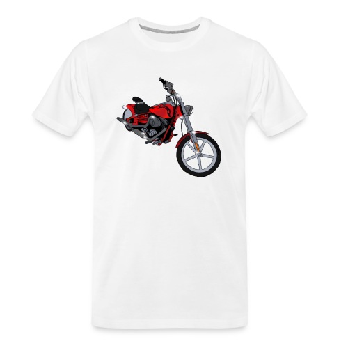 Motorcycle red - Men's Premium Organic T-Shirt