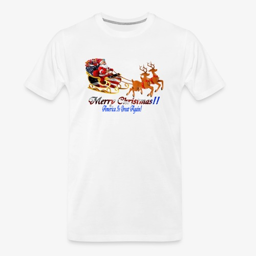 Merry Christmas-America - Men's Premium Organic T-Shirt