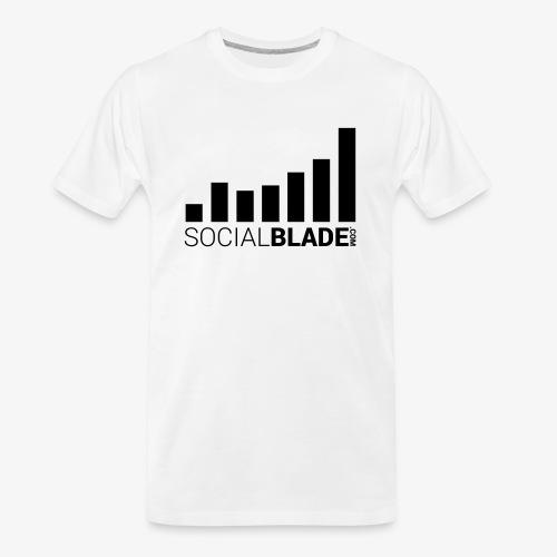 Socialblade (Dark) - Men's Premium Organic T-Shirt