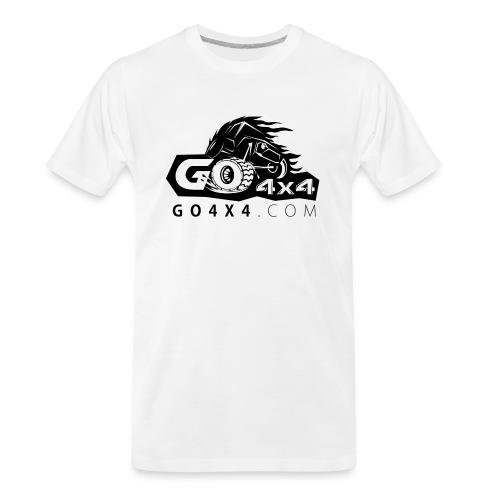 go bw white text black - Men's Premium Organic T-Shirt