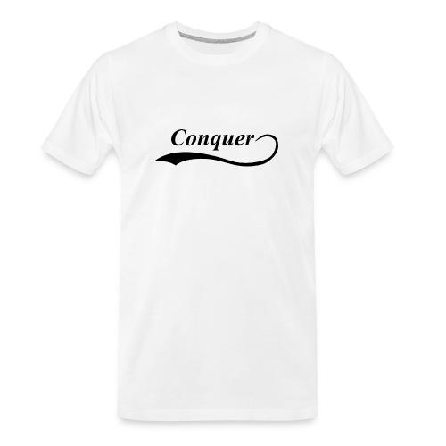 Conquer Baseball T-Shirt - Men's Premium Organic T-Shirt