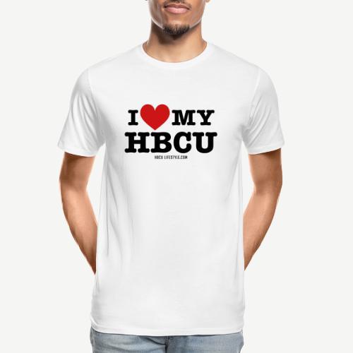I Love My HBCU - Women's Black, Red and White T-Sh - Men's Premium Organic T-Shirt