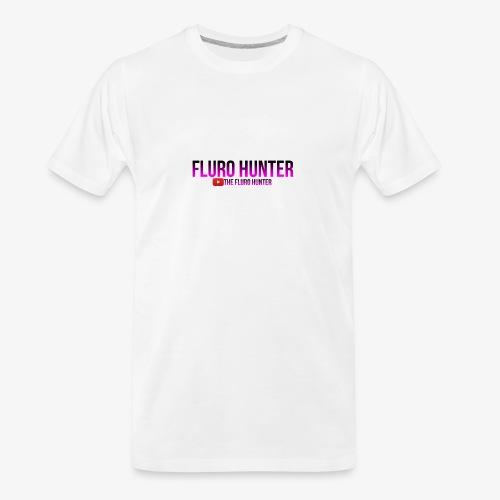 The Fluro Hunter Black And Purple Gradient - Men's Premium Organic T-Shirt