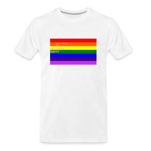 rainbowy day - Men's Premium Organic T-Shirt