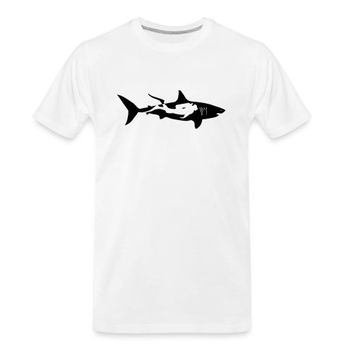 shark scuba diver diving whale dolphin manta - Men's Premium Organic T-Shirt