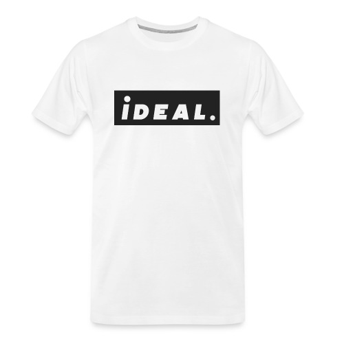 black ideal classic logo - Men's Premium Organic T-Shirt