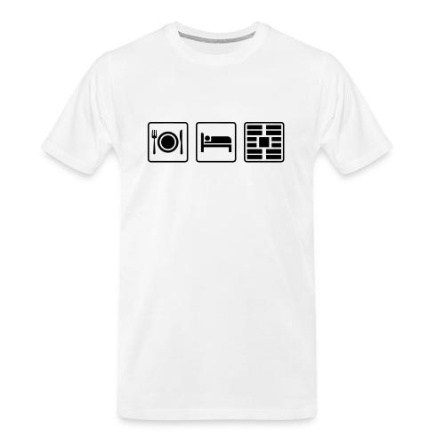 Eat Sleep Urb big fork - Men's Premium Organic T-Shirt