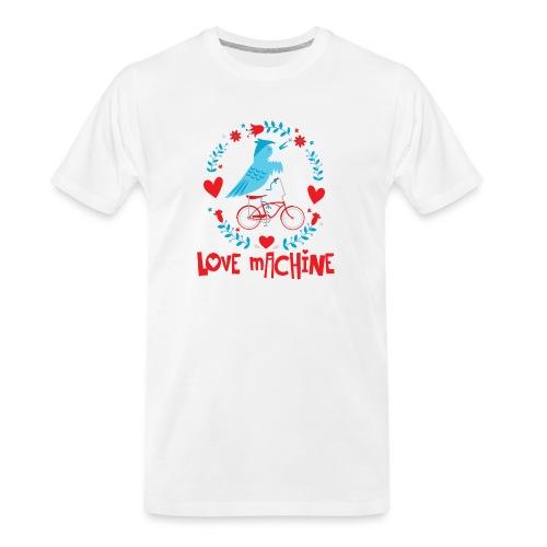 Cute Love Machine Bird - Men's Premium Organic T-Shirt