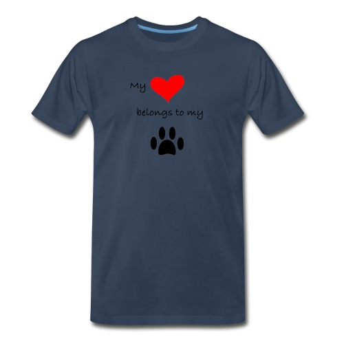 Dog Lovers shirt - My Heart Belongs to my Dog - Men's Premium Organic T-Shirt