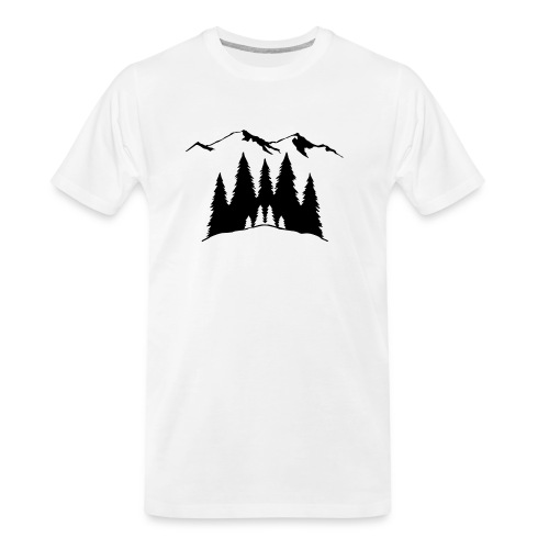 Mountains Trees - Men's Premium Organic T-Shirt