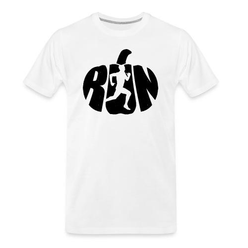 Halloween Running Pumpkin - Men's Premium Organic T-Shirt