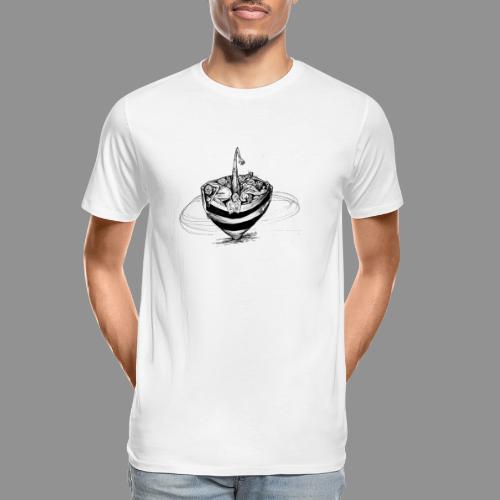 Wolfman Originals Black & White 15 - Men's Premium Organic T-Shirt