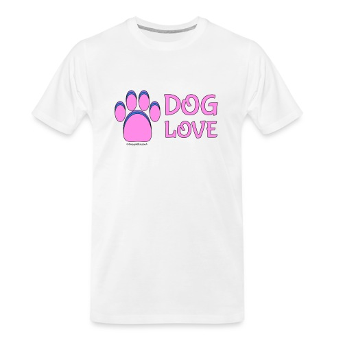 Pink Dog paw print Dog Love - Men's Premium Organic T-Shirt