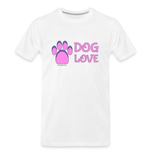 Pink Dog paw print Dog Love - Men's Premium Organic T-Shirt