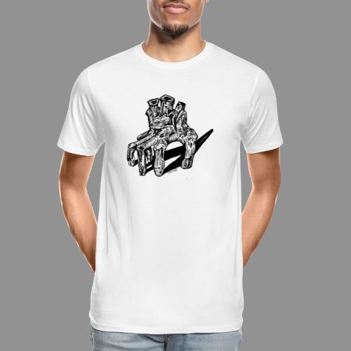 Wolfman Originals Black & White 19 - Men's Premium Organic T-Shirt