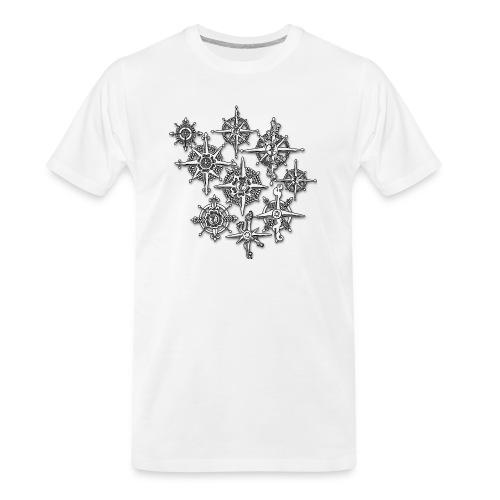 Neo-Henna Snowflakes - Men's Premium Organic T-Shirt