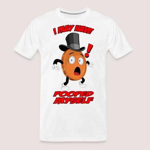 THE POOPED MYSELF PENNY - Men's Premium Organic T-Shirt