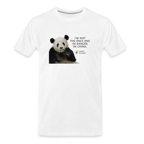 Endangered Pandas - Men's Premium Organic T-Shirt