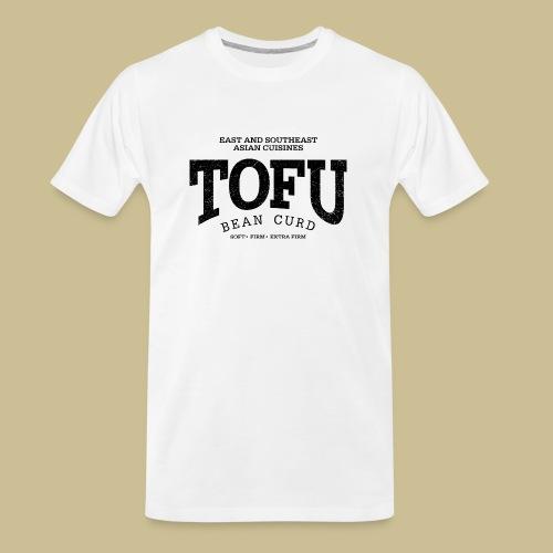 Tofu (black oldstyle) - Men's Premium Organic T-Shirt