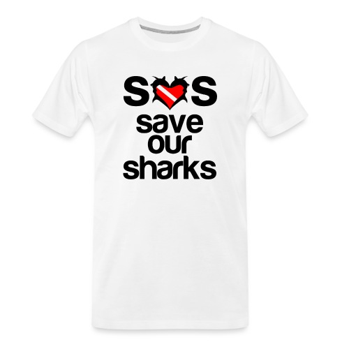 Save Our Sharks T-Shirt - Men's Premium Organic T-Shirt