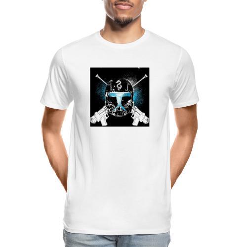 masked guns - Men's Premium Organic T-Shirt