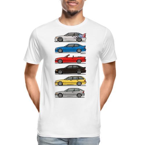 Stack of E36 Variants - Men's Premium Organic T-Shirt