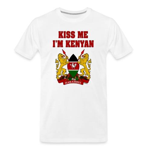 Kiss Me, I'm Kenyan - Men's Premium Organic T-Shirt