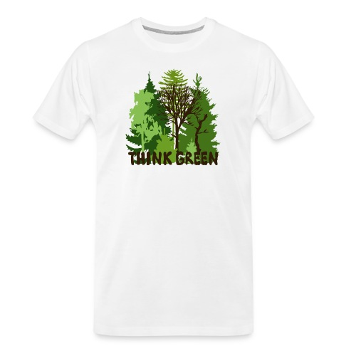 EARTHDAYCONTEST Earth Day Think Green forest trees - Men's Premium Organic T-Shirt