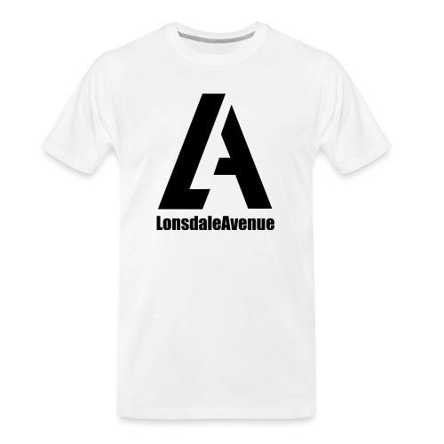 Lonsdale Avenue Logo Black Text - Men's Premium Organic T-Shirt